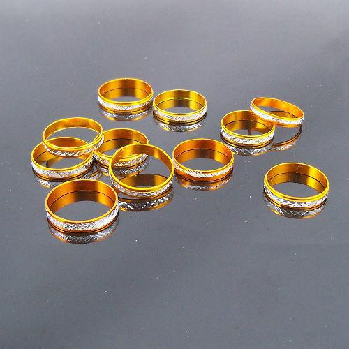 4mm Gold Tone Aluminum Rings Mixed Fashion Jewelry Ring