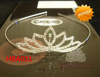 Wholesale Rhinestone Tiara Assorted - Pageant crystal headband wedding head band rhinestone tiara hairbands 12pcs lot ASSORTED STYLES