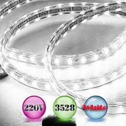 Wholesale 1m 3528 Smd - 1M 220VAC SMD3528 LED Strips LED Flashing Lights 60lights per meter IP67