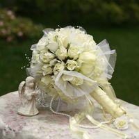 Wholesale Artifical Bouquet Flowers - 2016 New Arrival Big White Beige Champagne Flower Bride Bouquet Wedding Bouquets  Artifical Flowers Wedding favors