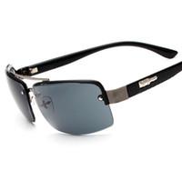 Wholesale Wayfarer Half Frame - Half Frame Sport Sunglasses Men 2016 New Fashion Sun Glasses High Quality luxury brand Eyewear Oculos de sol masculino
