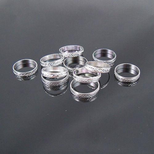 4mmシルバートーンアルミニウムリングミックスファッションジュエリーリング200ピースロット