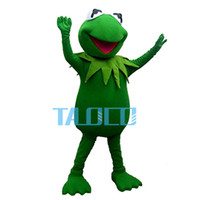Wholesale green frogs - The Frog Prince Mascot Costume Fancy Dress Outfit EPE Free Shipping Adult Size