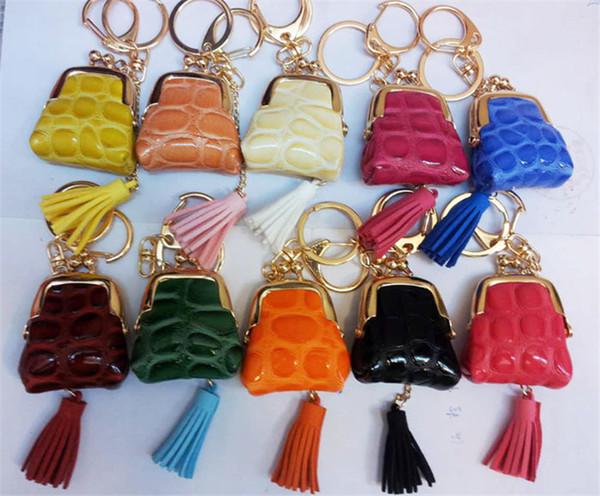 Chaveiro Saco Decorações Pouco Carteira de Couro PU Moda Fácil Transportar Cor Misturada 10 PCS muito Bolsas Decorativas