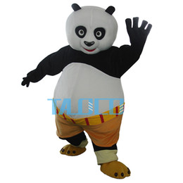 Wholesale Panda Mascots - Fast shipping Mascot Costume Kung Fu Panda Cartoon Character Costume Adult Size Wholesale and Retail