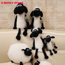 Wholesale Shaun Sheep Lamb - Free shipping 40cm NEW Hot Shaun Sheep Lamb stuffed Plush Toys Doll For Girl Children's Baby Birthday Holiday Gift peluches