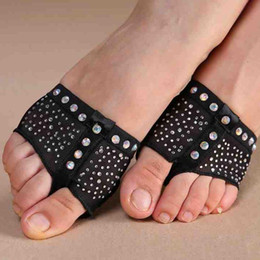 Wholesale Belly Cover - Comfort Diamond Foot Thong Toe Undies Dance Paws Half Lyrical Forefoot Cover New