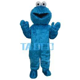 Wholesale Sesame Street Mascots - Sesame Street Blue Cookie Monster Mascot costume Fancy Dress Adult Size Halloween Free shipping