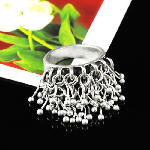 Moda joyería de los anillos, anillos antiguos corto borla de la joyería para las mujeres y los niños regalo anillo antiguo | RN-424