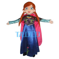 Wholesale Sales Role Play - 2015 top sale custom made anna princess dress mascot costume princess anna role play costume for adult