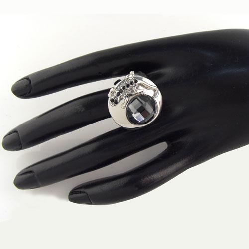 bague en cristal animaux de mode pour les femmes bijoux gecko bague de décoration en forme de bague incrustée de strass pour le cadeau RN-413