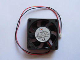 Wholesale Dc 12v Brushless Cooling Fan - Brushless DC Cooling 7 Blade Fan 6020S 12V 60x20mm Black 2Wires 2 Pcs Per Lot High Qulity