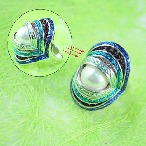Wysokiej Jakości Biżuteria Koktajl Pierścienie Dla Kobiet Emalia Eye Pierścień Natural Shell Pierścionki Biżuteria Antyczne | Rn-386b.