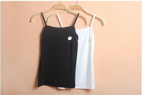 top popular The elegant simplicity of breathable pure color high elastic ladies halter top ladies casual vest backing 2021