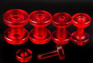 Nouvelle Arrivée Chair Chair UV Acrylique Oreille Piercing Fantaisie Oreille Expander Corps Bijoux 100 PCS / LOT