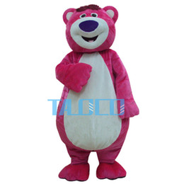 Wholesale Mascot Costume Toys - Toy Story Lots-O'-Huggin' Bear Lotso Mascot Costume Fancy Party Dress Free Shipping