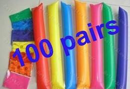 led produits en plastique Promotion Livraison gratuite 200 pcs de bâtons gonflables Ballon acclamations bâtons acclamant bâton gonflable, Cheer Up