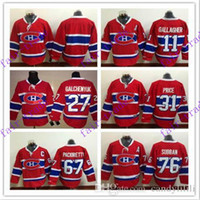 Wholesale Dry Laces - Cord NHL Montreal Canadiens #11 Gallagher 31 Price 76 subban 27 Galchenyuk 67 Pacioretty Lace Red White Hockey Jerse Stitched Mix Order