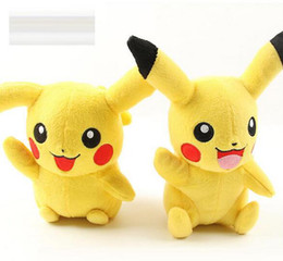 Wholesale Pikachu Plush Doll Christmas - 20cm(8inch) Pikachu Plush dolls cartoon Poke plush toys poke Stuffed animals toys soft Christmas toys