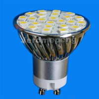 5PCS / LOT 3.5W GU10 E27 E14 MR16 24 SMD5050 LED populäre helle Scheinwerfer LED-Punkt-Glühlampe