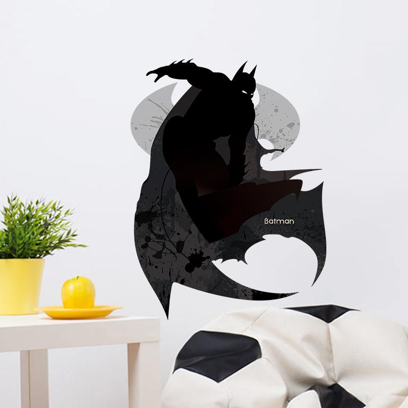 Black Batman Wall Stickers Kids Boys Teens Room Wall Decals Living Room  Bedroom Background Wall Applique Diy Home Decoration Wall Mural Stickers  Decor ... Part 81