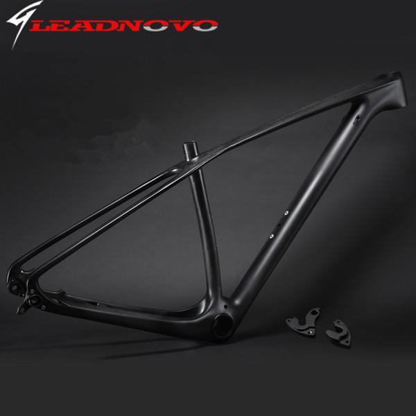 2016 light design Mountain full Carbon bike frameset mtb full carbon bike frame 29er thru axle compatible free shipping