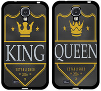 Wholesale Cool S4 Cases - Coolest King & Queen Couple Lovers Cell Phone Case for Iphone4 4s 5 5 6 6plus Phone Case Samsung galaxyS3 S4 S5 S6 S7 Note2 note3 note4 5