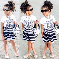 Wholesale Girls Baby Vogue - NWT 2016 New cute Baby Girls Outfits Set Summer Sets Cotton Tops Shirts Vest + shorts skirt 2piece sets - More Issues than Vogue