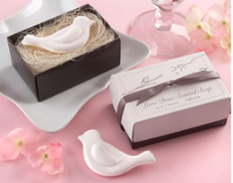 "Wholesale Love Birds Wedding Decor - 100PCS LOT KATE ASPEN party gift ""Love Dove"" Scented Soap birds shaped Soaps wedding decor favor"