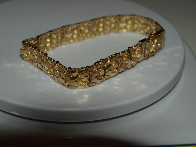 bracelet mesh gold mm solid yellow qg in