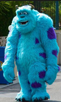 Wholesale Mascot Customs - Quality Sully Mascot Costume Suit Monsters University Fancy Dress Outfits Cartoon Character Adult Costumes Set Custom Made