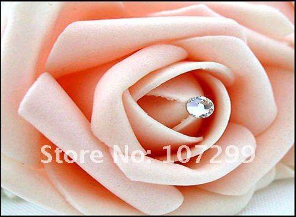 best selling FREE SHIPPING-50pcs Clear Swarovski Rhinestone Wedding Bouquets Bridal Stem Jewelry