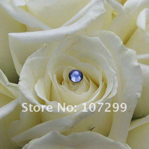 Wholesale Royal Blue Rhinestone Wedding Bouquets Bridal Stem Jewelry