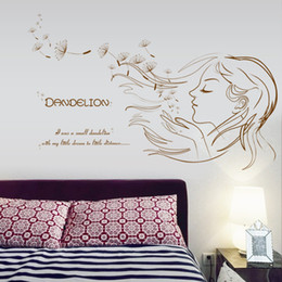 $enCountryForm.capitalKeyWord Canada - Dandelion Girl Wall Stickers I was a dandelion girl with a little dream to little distance Wall Poster Mural for Girls Kids Room Bedroom