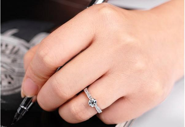 2014 Mode 925 Silver Bridal Ring Verlovingsringen Zwitserse Diamond Ringen Valentijnsdag Geschenken