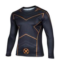 Wholesale X Man Bike - X-Men Cycling T-shirts Long sleeve bike jersey men's bicycle wear maillot free shipping