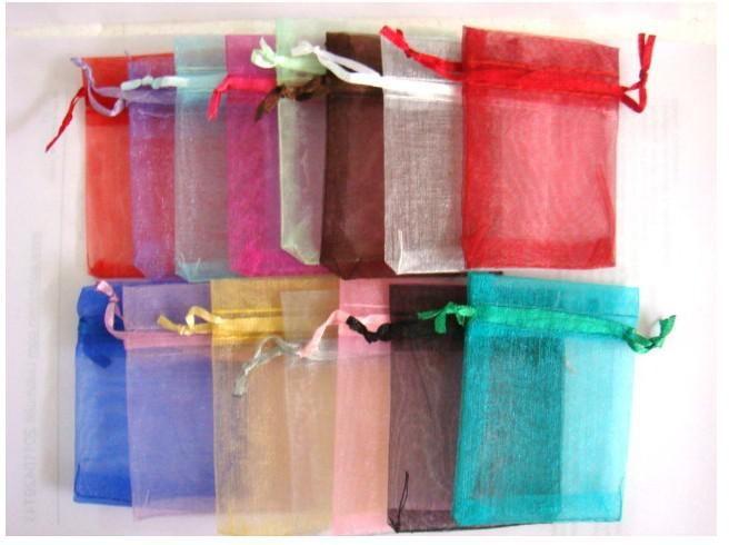 Mixte Organza Faveur De Mariage Cadeau Bonbons Sheer Sacs Bijoux Poche 7X9CM