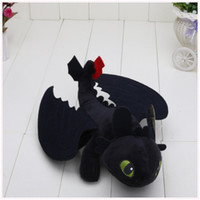 "Wholesale Dolls For Children Girls - 9"" 23cm Night Fury Plush Toy How to Train Your Dragon Toothless Toys Plush Dolls Toys for baby boys girls kids children"