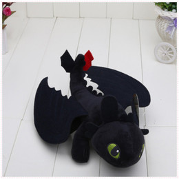 """Wholesale Dolls For Children Girls - 9"""" 23cm Night Fury Plush Toy How to Train Your Dragon Toothless Toys Plush Dolls Toys for baby boys girls kids children"""