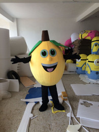 Wholesale Cute Mascot Costumes - Adult Size Cute Yellow Lemon Mascot Costume Furit Lemon Costume Christmas Birthday Party Fancy Dress Free Shipping