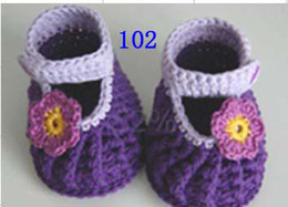 Wholesale Toddler Girl Booties - 100% HANDMADE baby Crochet shoes booties boots,popular Prewalkers for girls boys infants toddlers
