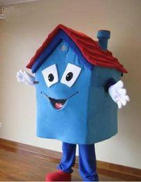 vestito da casa xl Sconti Costume blu della casa della mascotte di vendita calda costume 100% di alta qualità della casa del costume del vestito operato dal carnevale del partito