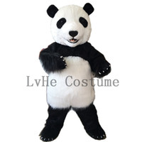 Wholesale costumes pandas - High Quality PANDA BEAR Mascot Costume Fancy Party Dress Adult Size Suit+Free Shipping P0003