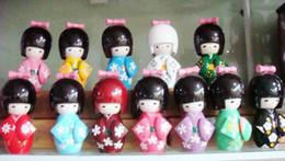 Wholesale Kokeshi Wholesale - New 100pcs KOKESHI ORIENTAL HANDMADE JAPANESE WOODEN DOLLS handsel Gift