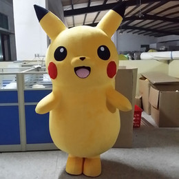 Wholesale Xxl Dresses China - Send China post SAL 2017 High Quality Pikachu Mascot Costume Popular Cartoon Character Costume For Adult Fancy Dress Party Suit