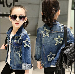 Wholesale Winter Water Factory - Children's Jacket Denim Boys Hooded Jean Jackets Girls Kids clothing baby coat Casual outerwear New factory