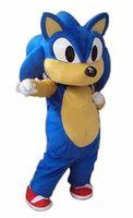 kostüm sonic großhandel-nagelneue erwachsene Größe Sonic das Igel-Maskottchen-Kostüm für Verkauf Halloween-Klage geben Verschiffen frei
