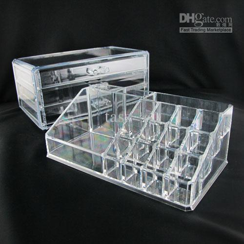 Extremely Hot Clear Acrylic Cosmetic Organizer Makeup Box Case
