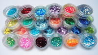 Wholesale 45 colors Nail Glitter Sequins Decoration jar G For Make Up Salon Nails Beauty Decorate Design B