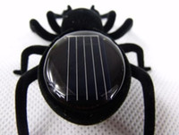 Wholesale Solar Energy Birthday Gifts - New Mini Solar Toys Solar Energy Powered 8 Legs Black Crazy Spider Kids' Toy cute present for kids Birthday gifts free shipping